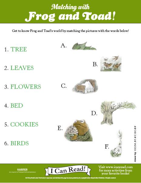 Frog vs. Toad | Worksheet | Education.com