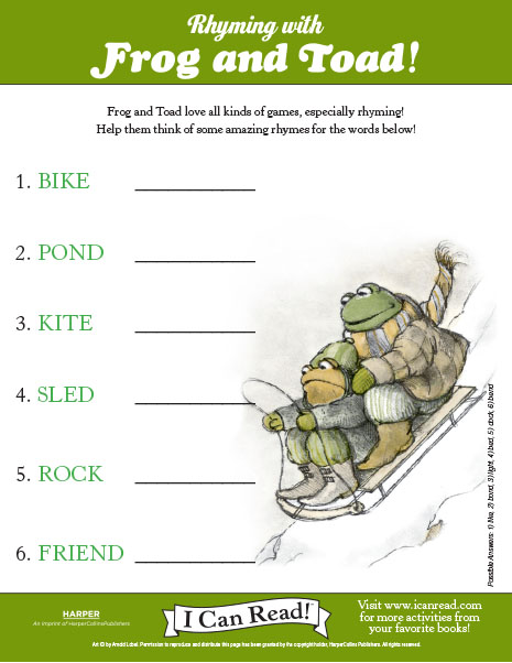 Breathtaking image throughout frog and toad are friends printable activities