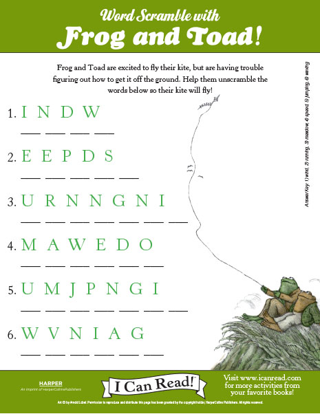Frog and Toad : I Can Read Books : ICanRead.com