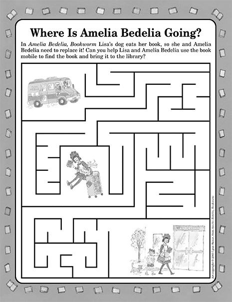 Amelia Bedelia Bookworm Maze
