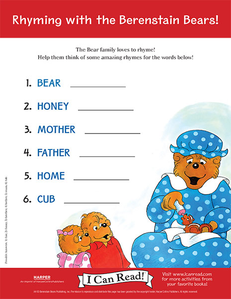Berenstain Bears - Easter Egg Hunt Coloring Page ...  |Berenstain Bears Crafts