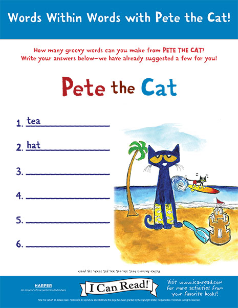 Pete The Cat I Can Read